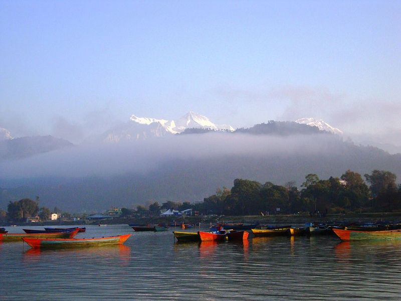 Boating in Pokhara