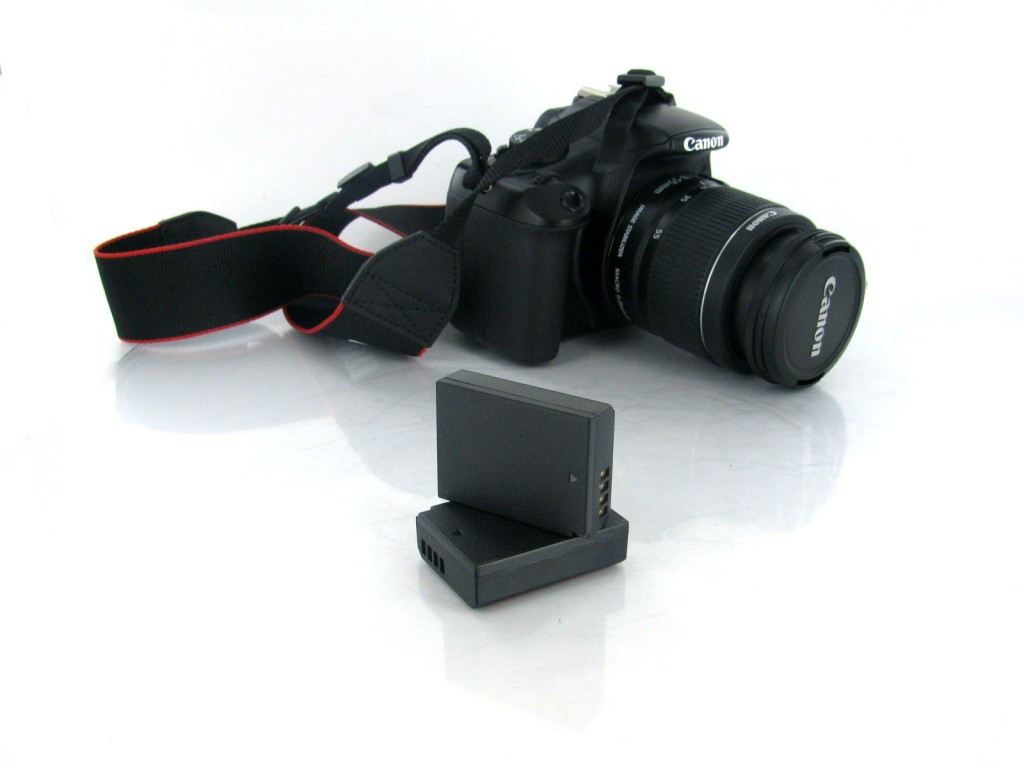 Camera and batteries for trekking