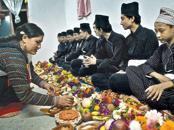 Mha Pooja festival in Nepal