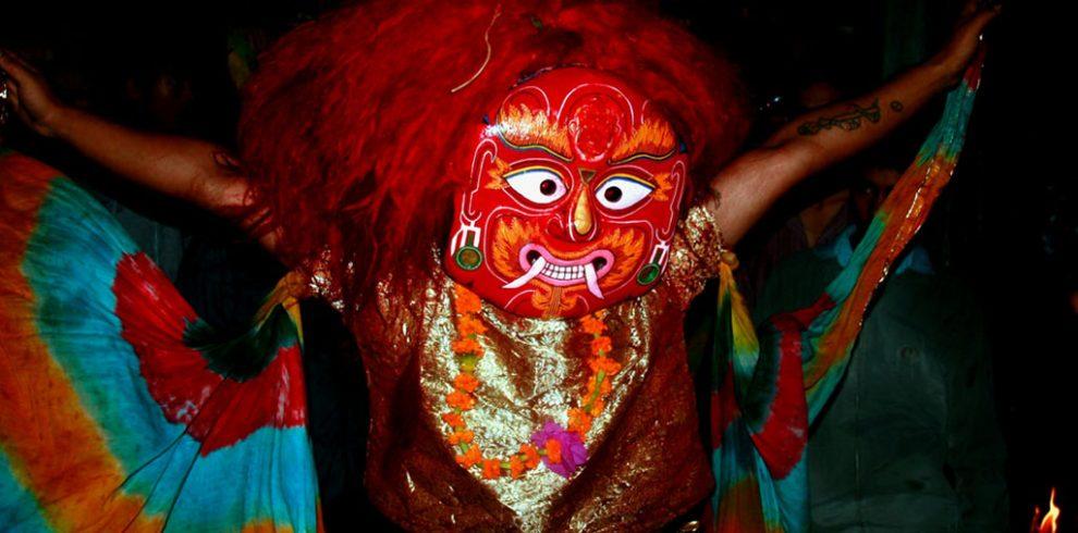 Festivals in Nepal Majipa Lakhey dance